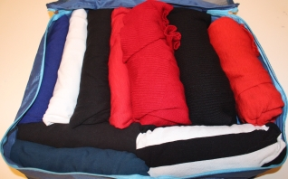 Packing cubes for clothes in South America