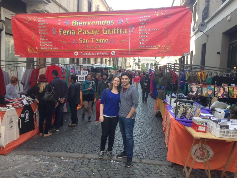 San Telmo markets Buenos Aires honeymoon